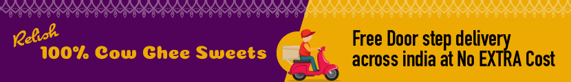 Relish 100% Cow Ghee Sweets Free Door step delivery across india at No EXTRA Cost